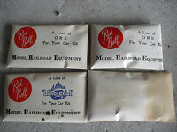 Lot of 4 Packs HO Scale Vintage Red Ball Ore Car Loads 3 Sealed