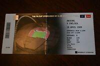 Arsenal v Chelsea 2009 FA Cup Semi-Final Ticket Stub