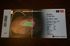 Arsenal v Chelsea 2009 FA Cup Semi-Final Ticket Stub