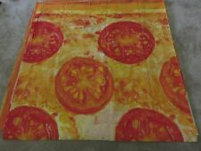 Novelty cheese tomato pizza red orange gold remnant crafts material 110x105cm