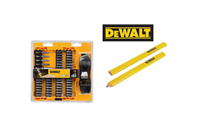 DEWALT DT71540-QZ EXTREME S/DRIVER BIT SET 53 PCS INC SAFETY GLASSES + 2 PENCILS