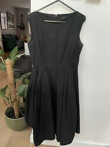 Black Cos Dress Size 8 Full Skirt And Pockets