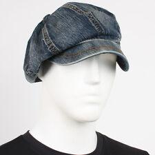NW Jean Newsboy Unisex Denim JSK Hat Fashion 8 Panel Applejack Gatsby Cabbie Cap