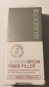 Wunderbrow 2 Fiber Filler Blonde Long Lasting Brow Powder Natural Looking Brows