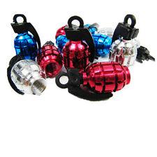 4pcs Handgranate Form-Auto-LKW-Fahrrad-Gummireifen-Luftventilkappe SchraderVent#