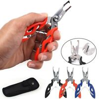"5"" Stainless Steel Fishing Pliers Scissors Braid Line Cutter Hook Remover Tool"