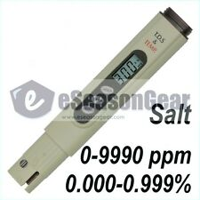 Salt Meter SALT-3000 Calibrated at 3000 ppm NaCl Pool & Koi Pond Salinity Tester
