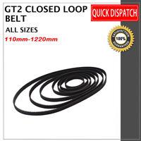 Circuito Cinghia Chiuso Dentata Larghezza 6mm per CNC 3D printer NUOVO GT-2 Belt