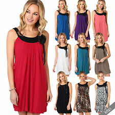 Polyester Crew Neck Patternless Short/Mini Dresses