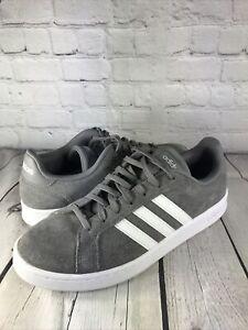 Adidas GRAND COURT F36412 Grey Heather-White Men Size 12 Low Top