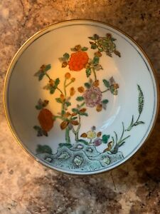 Collectible porcelain Decorative bowl with floral From Japan