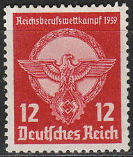 Stamp Germany Mi 690 Sc 491 1939 WW2 3rd Reich Emblem Eagle Plaque MH