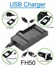 Battery Charger for Sony Handycam HDR-XR106 HDR-XR106E Lenmar LISH50 Camcorder