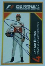 Jenson Button Signed F1 Autograph Card Team McLaren Mercedes Singapore GP 2011