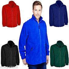 Mens Plain Fleece Jacket Size XS to 6XL Plus Zip-Up   *UK STOCK*