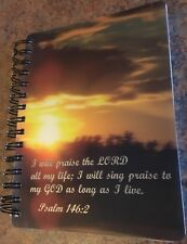 Journal lined pages, Psalm 146:2 on cover.  Religious peace.  Appointment keeper