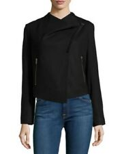 WOMENS Helmut Lang Black Asymmetrical Cropped Wool Jacket SIZE M