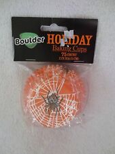 Halloween Spider Web Baking Cups Liners 75 Count Paper liner New