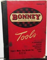 1947-48 Bonney Tools Catalog C-1 Wrenches Sockets Roller Cabinet Special Purpose
