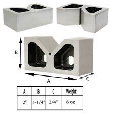 1 Set Pair Of 2 In X 34 In X 1 14 In Cast Iron V Blocks
