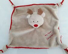 Boots Mini Mode My First Christmas  Reindeer Blanket Baby Soft Hug Toy Comforter