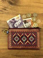 Turkish Purse, Hand Made Woven Coins Carpet Design Turkish , Arabic Asian Purse