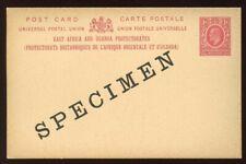 East Africa & Uganda - 1903 - Postal Stationery - Specimen - Postal Card - HG 2