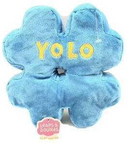 LEAPS & BOUNDS: Y.O.L.O: # SIGN: PLUSH DOG TOY: SQUEAKY: CRUNCHY: FETCH TOY: NEW