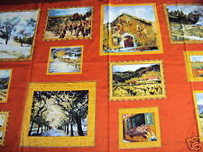 "Rustique panneau photos tissu coton imprimé quilting - 23 ""x 43"""