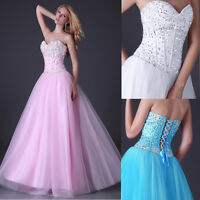 Long Prom Bridesmaid Evening Ball Gown Party Formal Wedding Dress UK Size 6-20