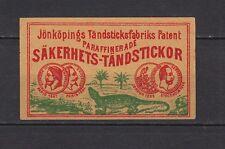 Anciennes étiquettes Allumettes  Suède   Iguane