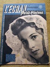 l'écran français paris cinema, n°101  juin 1947