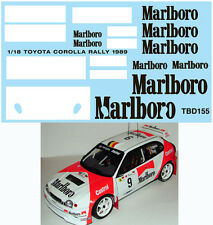 1/18 TOYOTA COROLLA RALLY 1989 FOR AUTOART DECALSTB DECALS  TBD155