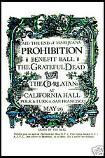 San Francisco Band: Grateful Dead at California Hall *Prohibition* Poster 1967