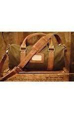 e9a5c6cca6f Rugged Leather Waxed Canvas Duffle Bag - Small Gym Bag for Men