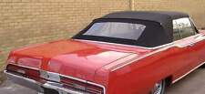 PLYMOUTH FURY  1967-68 CONVERTIBLE TOP+GLASS WINDOW - BLACK PINPOINT VINYL