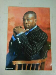 Frank Bruno Snowdon Portrait Signed to the Reverse Best Wishes from Frank Bruno
