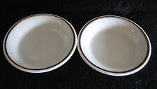 SET 2x VTG BTHS Ceramic Bowls Signed White Porcelain Gold Leaf Ash Trinket Trays