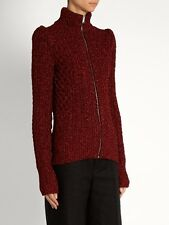 Isabel Marant Daley cable-knit Lurex cardigan, size 38, AUS 8-10, pre loved