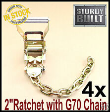 "4x Chain Ratchet Tie Down G70 Flatbed Tow Truck 5/16"" Hauler Car Carrier Wrecker"
