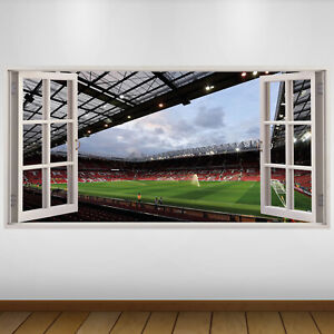 EXTRA LARGE Manchester United Wide View Football Vinyl Wall Sticker Poster