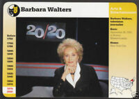 BARBARA WALTERS 20/20 THE VIEW TV Host Biography GROLIER STORY OF AMERICA CARD