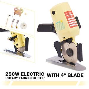 "4"" Electric Cloth Cutter Fabric Leather Rotary Blade Cutting Scissors Machine"