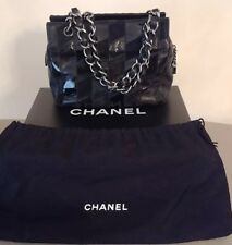 CHANEL Patch-Work handbag- Black (Fur, Python, Lamb, Patent leather)