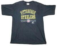 Vtg Pittsburgh Steelers NFL Pro Line Logo Athletic Single Stitch 90s T-Shirt L