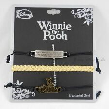 New Disney Winnie The Pooh Bravery Bracelet 3 Pack Arm Party Cord Bracelet Set