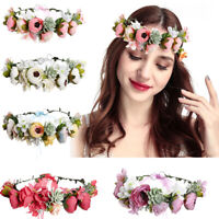 Wedding Bridal Flower Wreath Hairband Ladies Women Headband Crown Party New