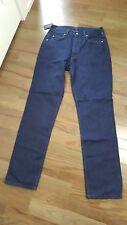 NWT Valentino Blue Denim Mens Jeans 34 x 33 NEW Couture Dark Blue