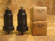 Vintage NIB Date Matched Pair RCA USA JAN-CRC-6K7 Vacuum Tubes 1952