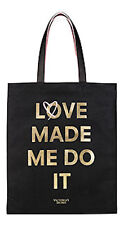 "Victoria's Secret Tote Double Bag ""Love Made Me Do It"" Logo NWT"